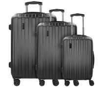 Lima 2.0 FL 4-Rollen Kofferset 3tlg mit Doppelrollen schwarz