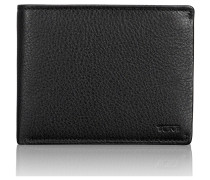 Global Geldbörse RFID Leder 12 cm black textured