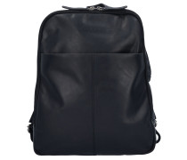 Dex Rucksack Leder 39 cm Laptopfach schwarz