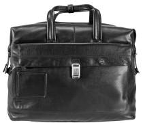 Vibe Weekender Reisetasche Leder 48 cm schwarz