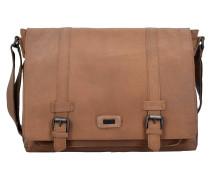 Belt Messenger Bag Tasche Leder 38 cm Laptopfach sand