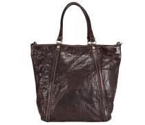 Agave Shopper Tasche Leder 32 cm dark brown