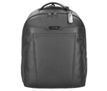 Sygnum Business Rucksack Leder 46 cm Laptopfach black
