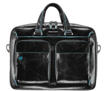 Blue Square Aktentasche III Leder 39 cm Laptopfach schwarz