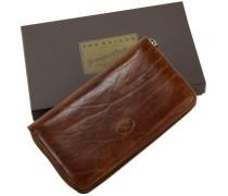 Story Donna Geldbörse Leder 19 cm marrone-braun