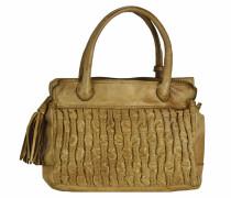Handtasche Leder 28 cm cammello