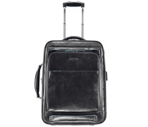 Blue Square 2-Rollen Business Trolley Leder 53 cm Laptopfach schwarz