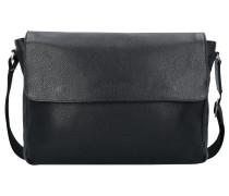 Citta Messenger Aktentasche Leder 35 cm Laptopfach black