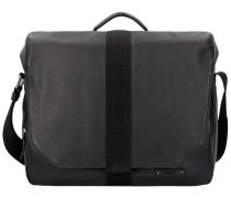 Steve 2 Messenger Bag Tasche 38 cm Leder black