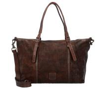 Betulla Shopper Tasche Leder 45 cm dark brown
