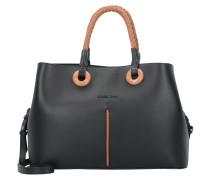 Handtasche 34 cm Leder nero bicolor