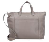 Love Shopper Tasche Leder 33 cm cold grey