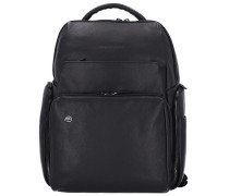 Black Square Rucksack Leder 42 cm Laptopfach