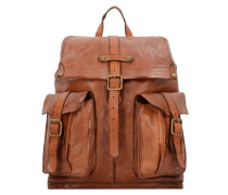 Carry Over Rucksack Leder 38 cm cognac