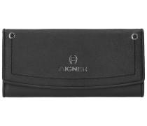 Ava Geldbörse Leder 20 cm black