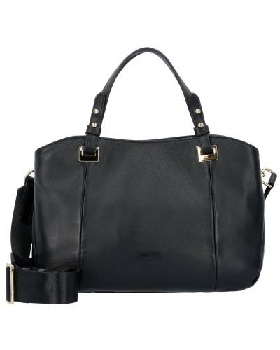 Elisa Handtasche Leder 28 cm schwarz