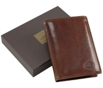 Story Uomo Geldbörse II Leder 9,5 cm marrone-braun