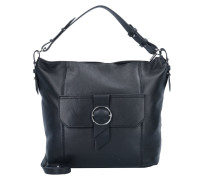 Millenium Hobo M Handtasche Leder 28 cm black