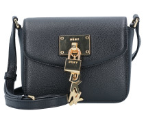 Elissa Mini Bag Umhängetasche Leder 17 cm black
