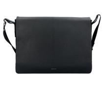 Cardona Doros Messenger Leder 38 cm Laptopfach black