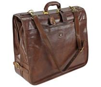 Story Uomo Kleidersack Leder 55 cm marrone-braun