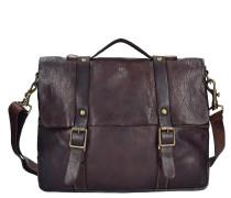 Castagno Messenger Leder 34 cm dark brown