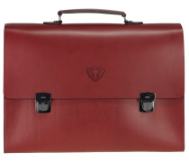 Oxford Neleus Aktentasche Leder 43 cm burgundy