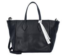 Adria Handtasche Leder 30 cm black white