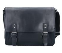 Dakota Messenger Leder 38 cm Laptopfach schwarz