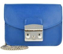 Metropolis Mini Bag Umhängetasche Leder 17 cm blu pavone