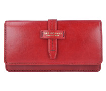 Florentin Geldbörse Leder 17,5 cm red currant / gold