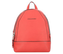 Muse City Rucksack Leder 31 cm red