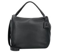 Adria Handtasche Leder 34 cm black/nickel