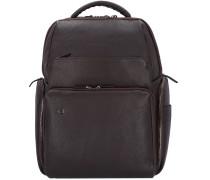 Black Square Rucksack Leder 42 cm Laptopfach