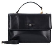 Candy Tracolla Handtasche Leder 26 cm black-gold