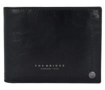 Uomo Geldbörse Leder 12,5 cm black ruthenium