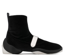 Stretch velvet high-top sneaker with plate LIGHT JUMP HT2
