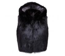 Black beaver vest PATRICIA