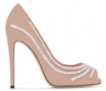 Pink suede pump with crystals CLIO