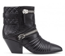 Black nappa boot with zips details DEMI