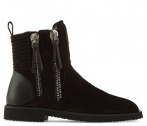 Giuseppe for Zayn' black suede boot with zips ZIGI