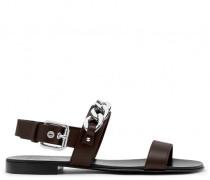 White nappa leather shoes JASON