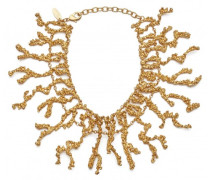 Gold tone brass necklace ARIEL