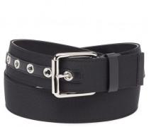 Black fabric belt SIDNEY