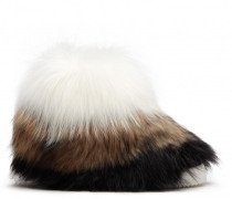 Multicolor fur high-top sneaker NATALIA