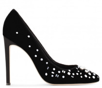 Black velvet pump with crystals THE DAZZLING ANNETTE