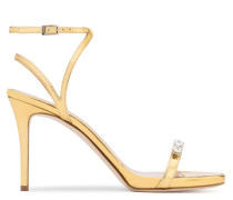 Patent leather sandal with crystals ELLIE