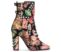 Floreal calfskin leather boot with studs BRENDA
