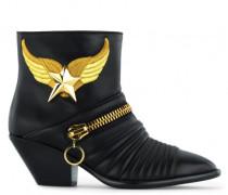 Black nappa boot with accessory DEMI