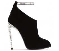 Giuseppe for Jennifer Lopez: black suede boot with crystals PUCHI
